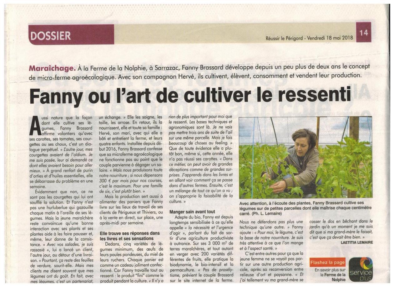 Article Réussir Périgord